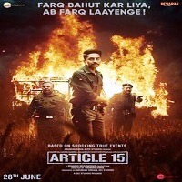 Article 15 Action Thriller Movie Poster 2019